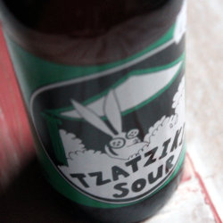 Tzatziki Sour label close-up.