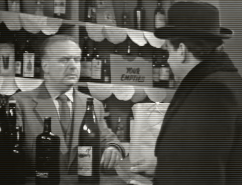 Hancock talks to Harry at the off-licence.