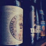 Beers ageing in our 'cellar'.