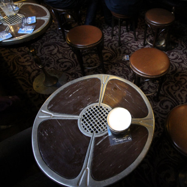 Ashtray tables at Peter Kavanagh's.