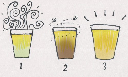 Golden Ales, 1: extravagantly hoppy, 2: boring and flaccid, 3: balanced, shining bright.