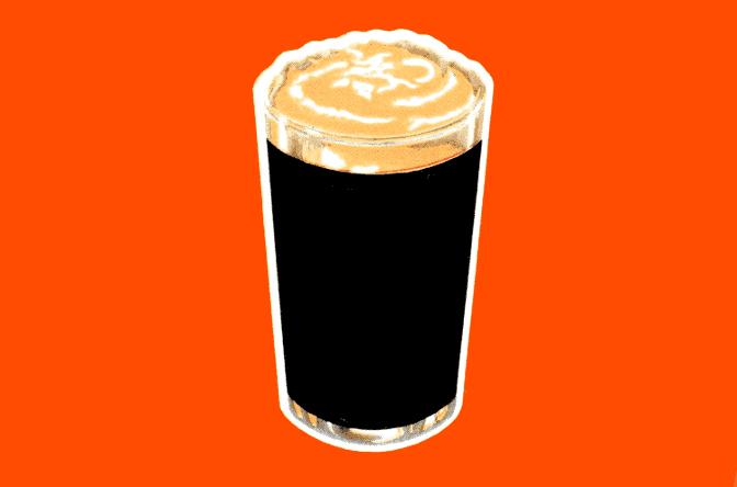 A pint of stout.