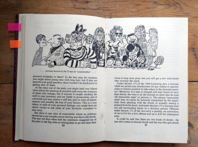 Interior spread of book with illustration: 'Undesirables'.