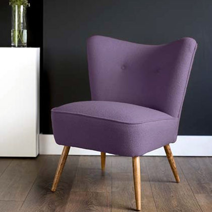 Bute wool cocktail chair.