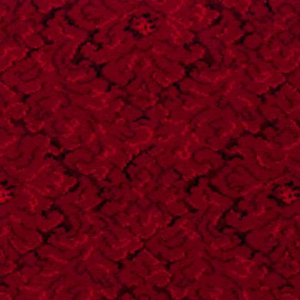 Carpet design in red/burgundy.