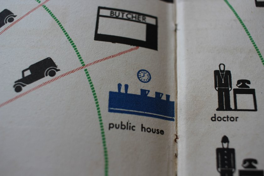 Detail from a chart: 'Public House'.