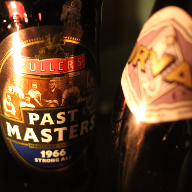 Past Masters 1966 strong ale and Orval, by candlelight.