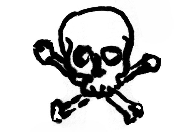 Illustration: poison symbol (skull and crossbones)