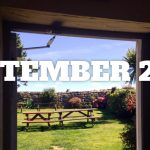 Beer garden w. overlaid text: September 2016.