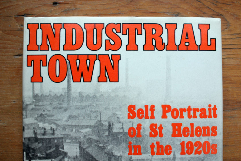 "Detail from the cover of ""Industrial Town""."