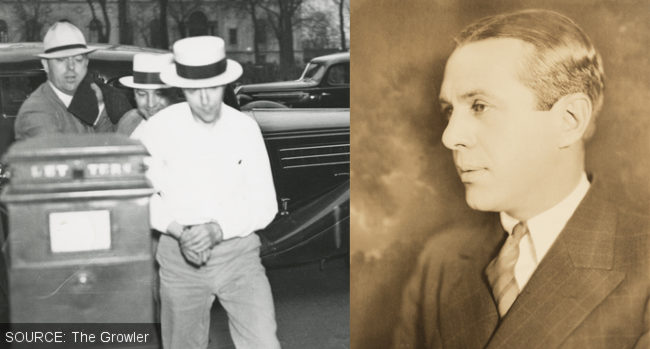 Old photos: the kidnapper and Mr Hamm, the victim.