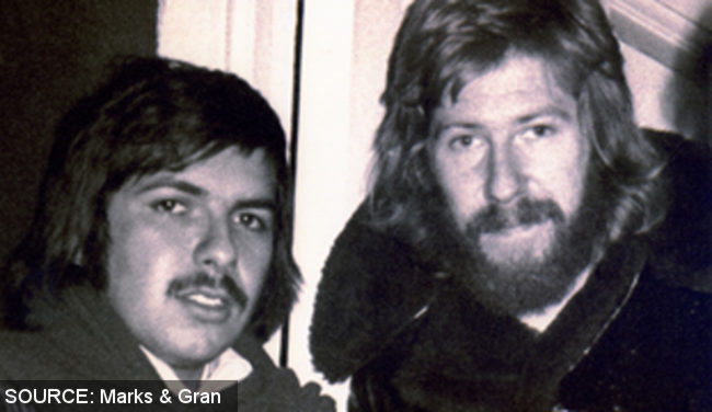 Two young men with facial hair.
