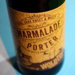Marmalade Porter bottle -- orange label against blue background.