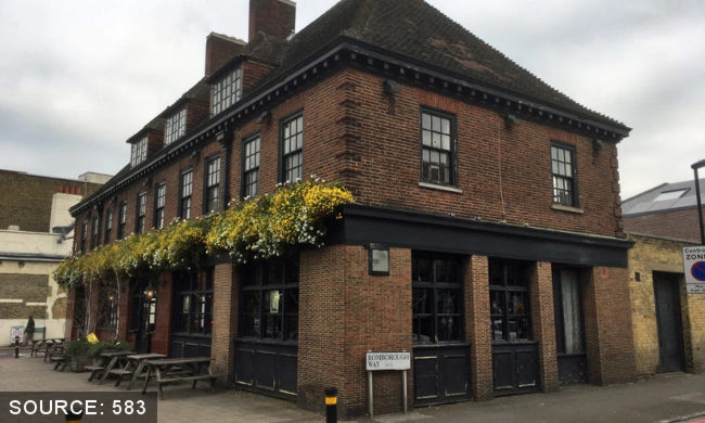 The Ravensbourne Arms.