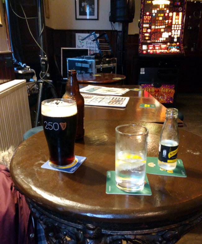 At the London Inn.