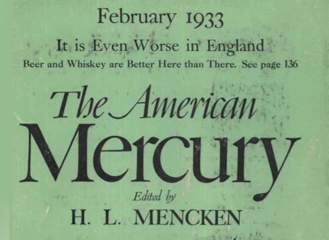 Detail from the cover of The American Mercury.