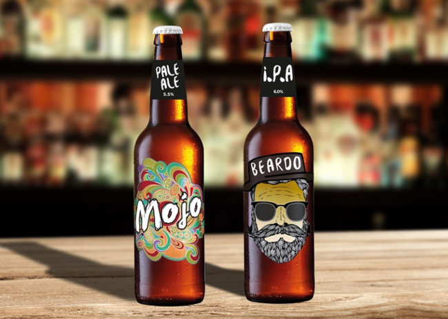 Beardo and Mojo beers from Robinson's.