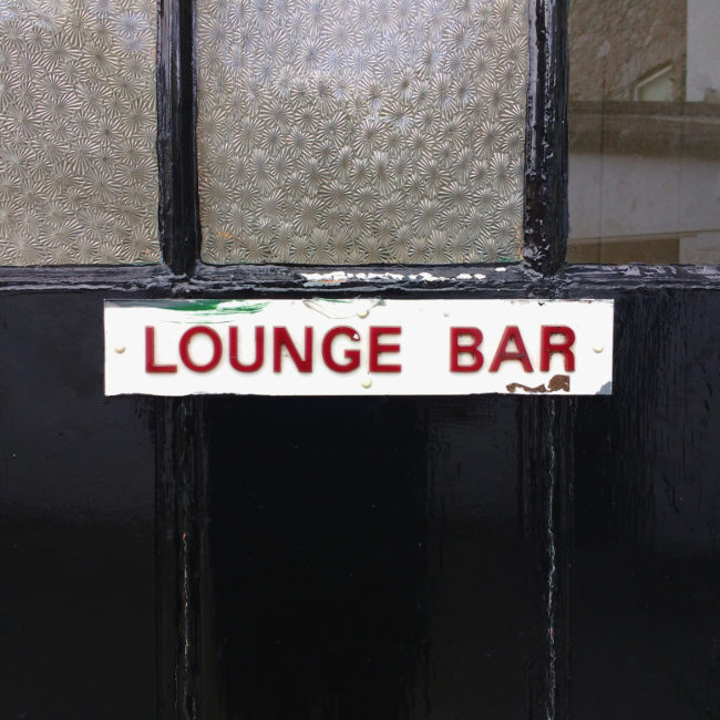 SIGN: 'Lounge Bar'