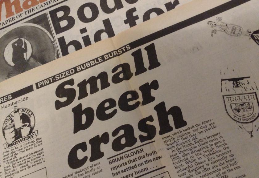 HEADLINE: 'Small Beer Crash'