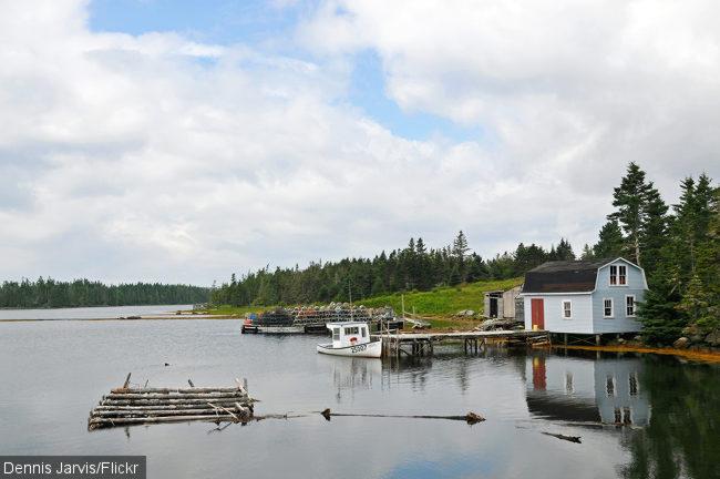 Fishing boats on Sober Island.