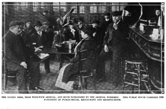 Interior of a London pub c.1915.
