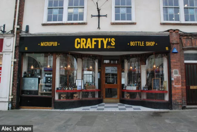 Crafty's Bottle Shop and Micropub.