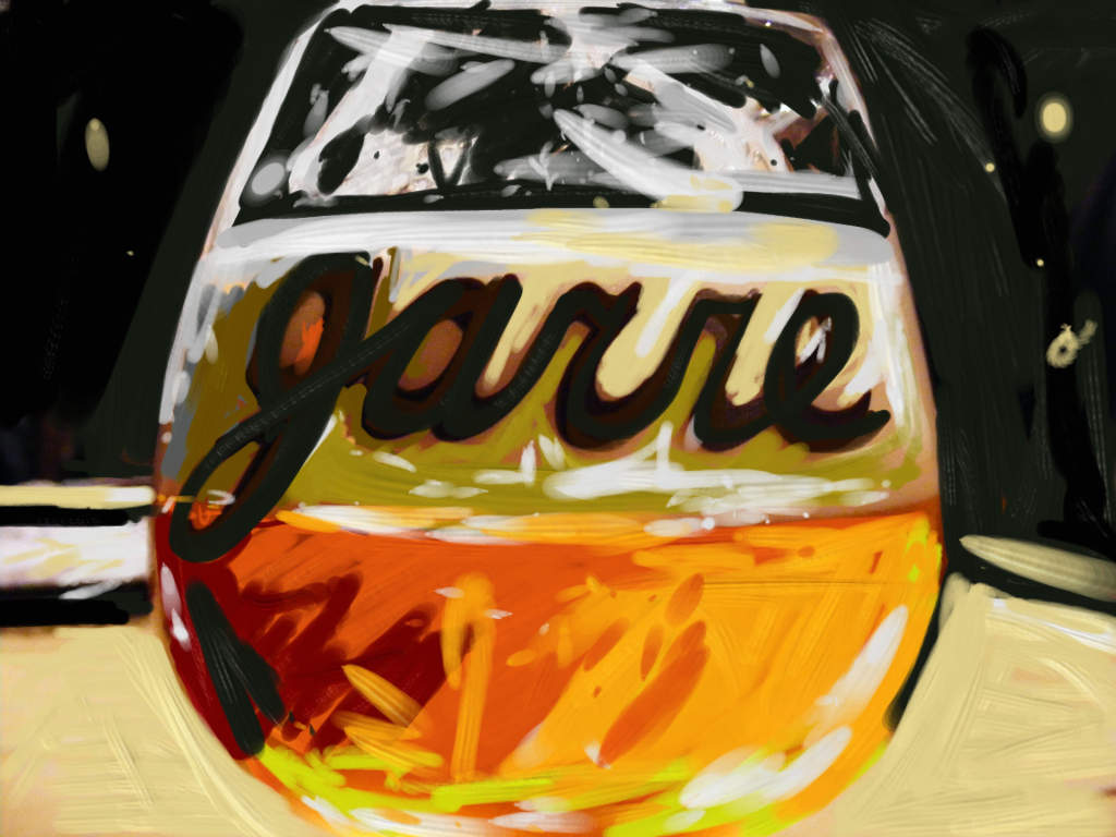 Illustration: a Belgian tripel in the glass.