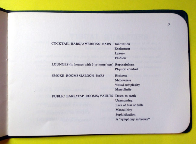 Page 5: a list of types of bar.