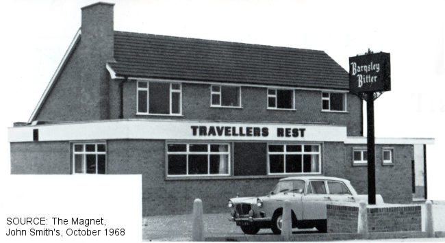 Exterior view of The Traveller's Rest, Shuttlewood.