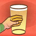 Illustration: a glowing pint of beer.
