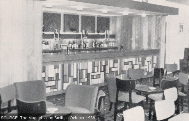 The lounge bar at The Harlequin.