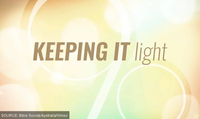 'Keeping it light' title card from the controversial video.