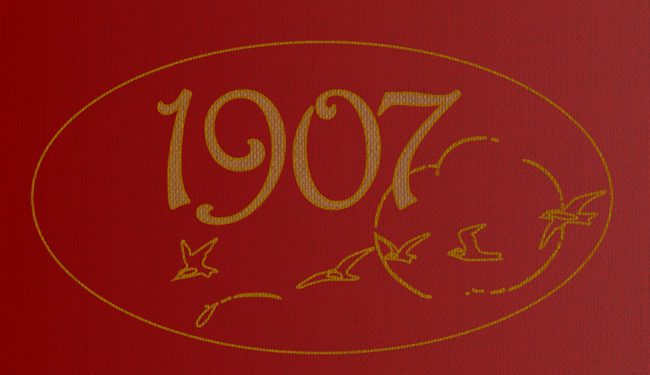 Header graphic: vaguely Art Nouveau gilded 1907.