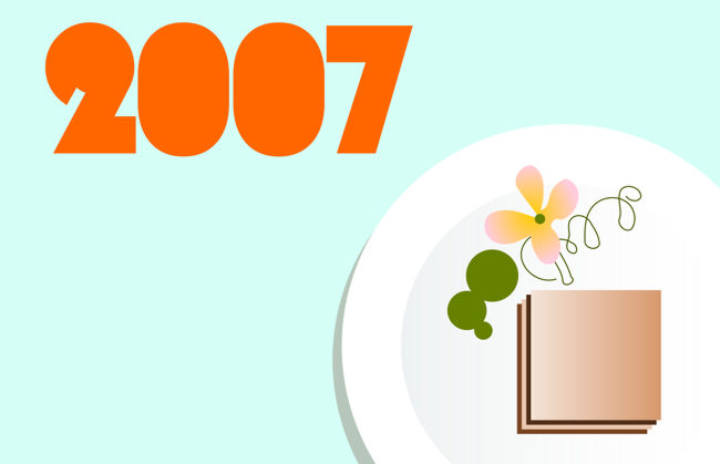 Header image for 2007: gastropub plate.