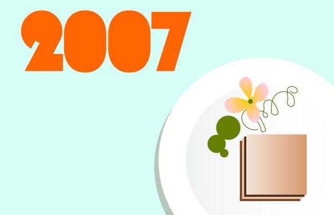 Header image for 2007: gastropub plate.