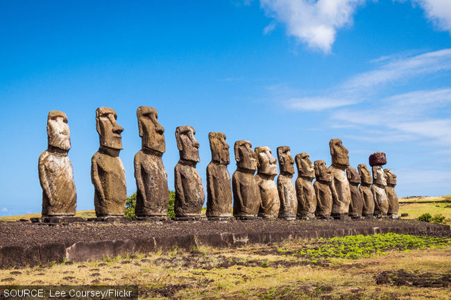 Easter Island moai statues.