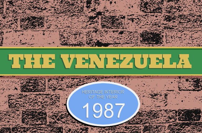 The Venezuela -- pub sign.