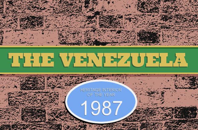 The Venezuela -- pub sign.