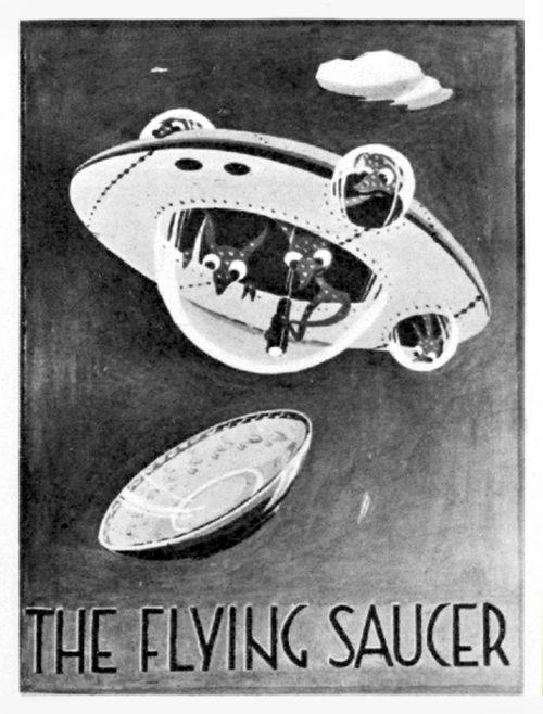 Pub sign with cartoon spaceship/UFO.