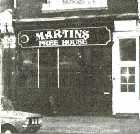 Martin's Free House, North London.