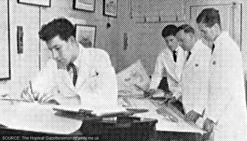 Reg Norkett and the staff of the Architect's Department