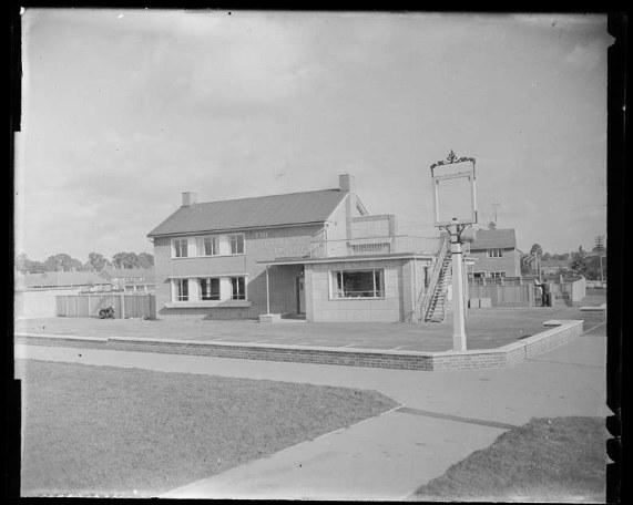 A 1950s pub, half-constructed.