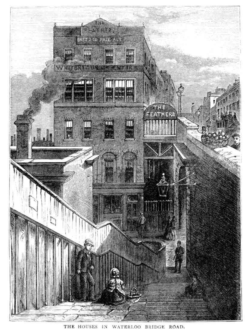Two Pubs In One: The Feathers, Waterloo, c.1878