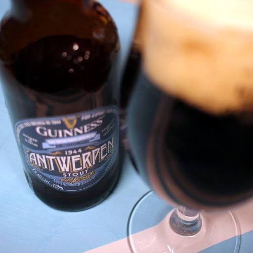 Guinness Antwerpen Stout in the bottle.