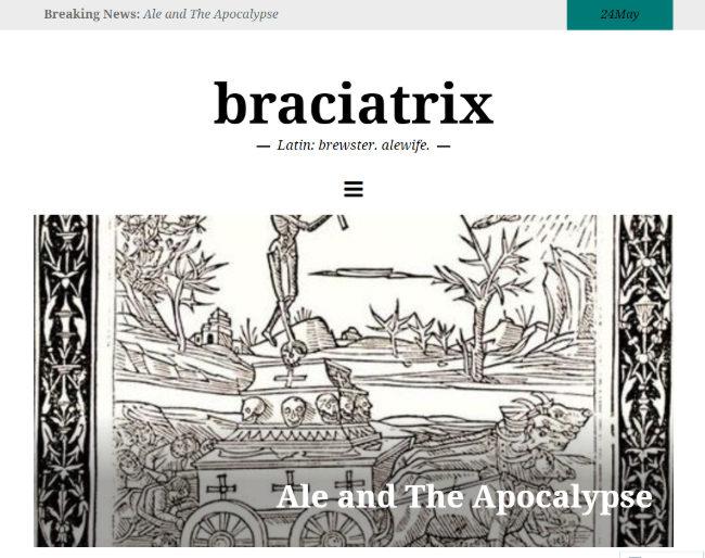A screengrab of the Braciatrix blog.