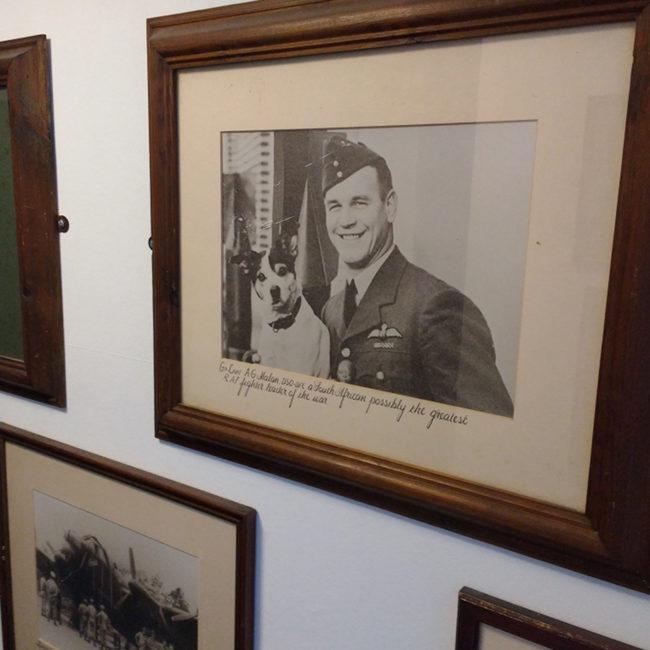 Portraits on the wall of the RAFA club in Penzance.