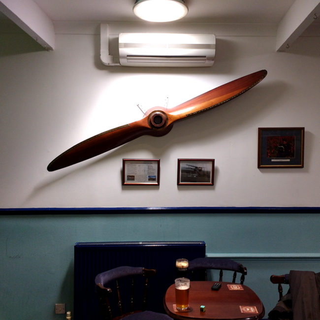 Decorations at the Gremlins (RAFA) club in Penzance.