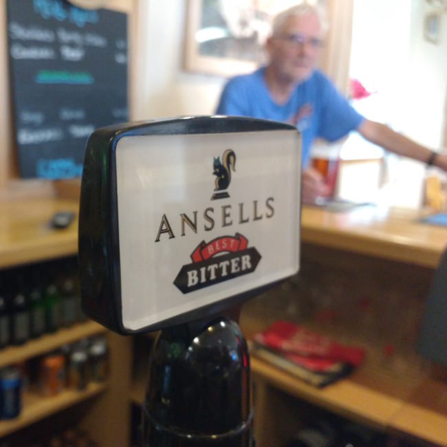 Ansell's Best Bitter at the Mousehole Legion.