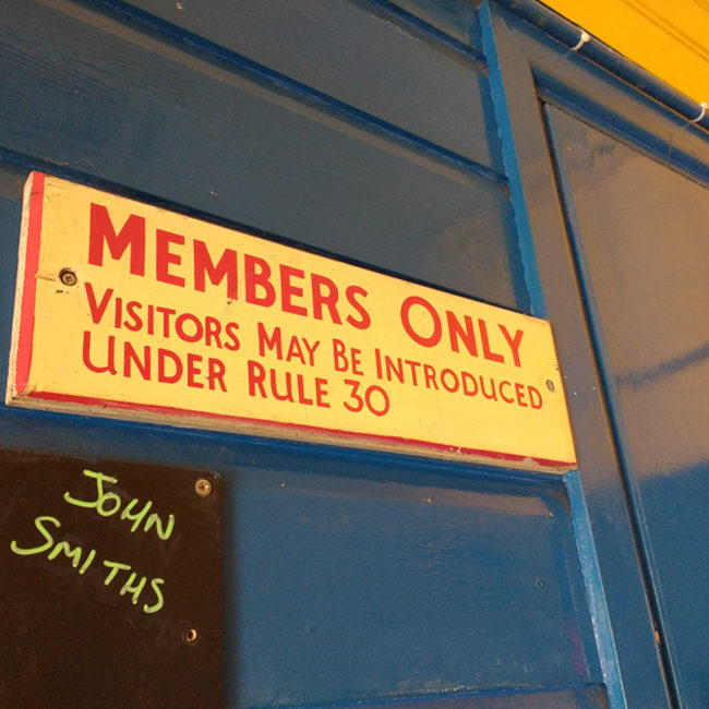 The British Legion club at Newlyn: MEMBERS ONLY.