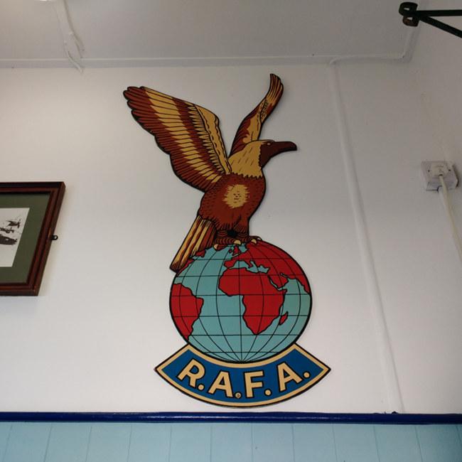 RAFA club logo in the club foyer.